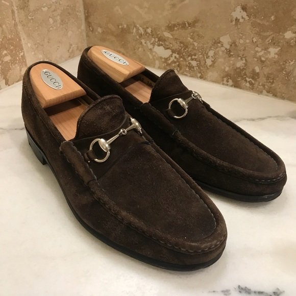 37df2caa87f Gucci Other - Gucci Horsebit Brown Suede Loafers Size 10